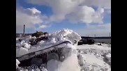 Мощта на руската военна техника при зимни условия е безгранична!