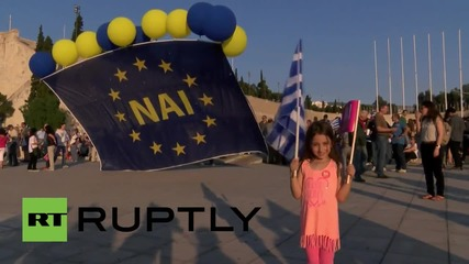Greece: 'Yes' voters rally in support of austerity and EU membership