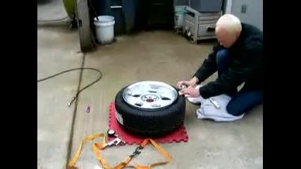 Тясна гума на широка джанта