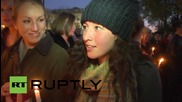USA: Victims of Paris attacks honoured outside White House