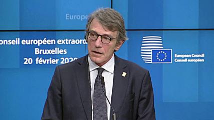 Belgium: 'This proposal is unacceptable' - Sassoli slams Michel's EU budget plan