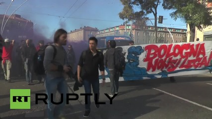 Italy: Huge numbers oppose Lega Nord and Forza Italia in Bologna