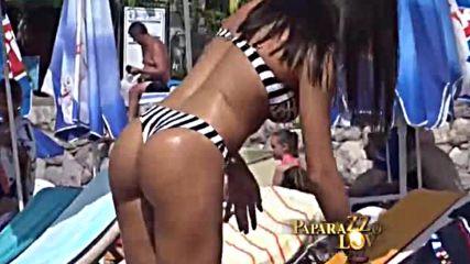 Поп фолк фурията Сандра Африка впечатли с фитнес тяло на плажа