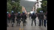 Сблъсъци в Северна Италия по време на антиправителствени протести