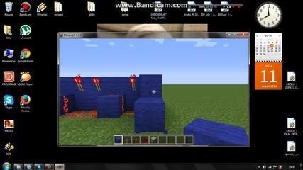 Как се прави пистън врата с код на minecraft