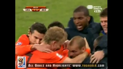 06.07.2010 Уругвай - Холандия 1:2 Гол на Снайдер - Мондиал 2010 Юар