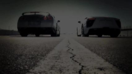 Драг рейсинг - Lexus 2012 vs. Nissan Gt-r 2010