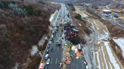 56 превозни средства се сблъскаха в Китай, има жертви