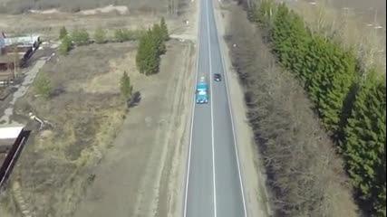 Как руските полицай следят за реда на пътя!