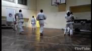 Будошин (карате шотокан) спаринг 1 видео