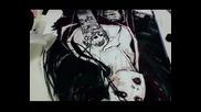 Рисунка на гейша - акварел, абстракт