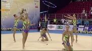 България - обръчи и бухалки - Световна купа по художествена гимнастика - София 2015