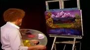 S04 Радостта на живописта с Bob Ross E02 - необезпокоявана долина ღобучение в рисуване, живописღ