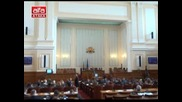 Павел Шопов от Атака - отнемат му думата от трибуната - 19.10.2012