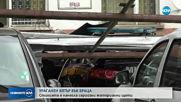 Ураганен вятър отнесе покрив на сграда във Враца, той се стовари върху паркирани коли