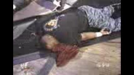 Wwe - Jeff Hardy Legdrops Both Dudleys