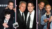 Баща и син: Актьорите, които се снимаха по семейному в хитови холивудски филми