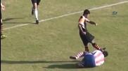 Много груб фаул на турски футболен мач!