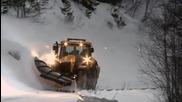 Екстремно почистване на снега в Норвегия