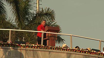 Cuba: Raul Castro leads International Worker's Day celebrations in Havana