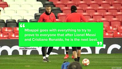 José Mourinho rates Mbappé as the world's 3rd best player