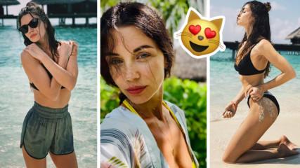 Диляна Попова пръска сексапил от Малдивите! Актрисата с апел към всички