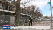 Кран от строителен обект падна в София