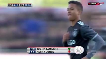 Синът на Клуиверт дебютира на 17 г. за Аякс
