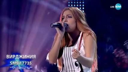 Вирджиния изпълни великата песен Искам те, X Factor Live (05.11.2017)