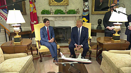 USA: Trump and Trudeau talk trade at the White House