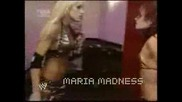 Michelle Mccool Kicks Maria Backstage