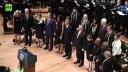 George W. Bush Dances to Battle Hymn at Dallas Memorial