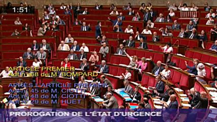 France: National Assembly votes to extend state of emergency by 6 months