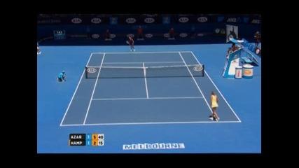 Американка изпоти Азаренка по пътя към 1/8 финалите