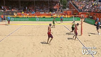 как се печели лесна точка на плажен волейбол