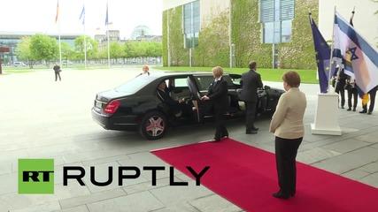 Германия: Меркел се среща с президента на Израел Реувен Ривлин в Берлин