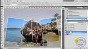 Коллаж с фото-рамками в Photoshop Cs5