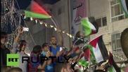 Палестина: Хиляди празнуват вдигането на Палестинското знаме на събранието на ОН