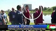 Роналдо хвърли микрофона на журналист в езерото