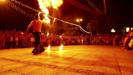 Българи правят огнено шоу в Сърбия - Влог