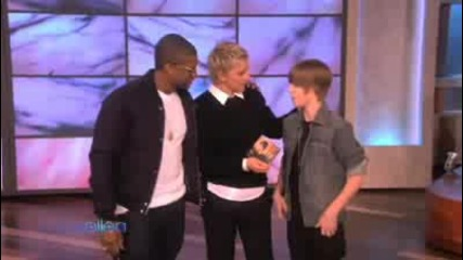 Justin Bieber & Usher dancing in ellens show