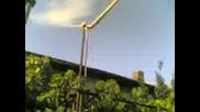 недовършен вятърен генератор