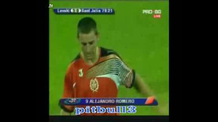 Левски - Сант Жулия 4:0 всички голове