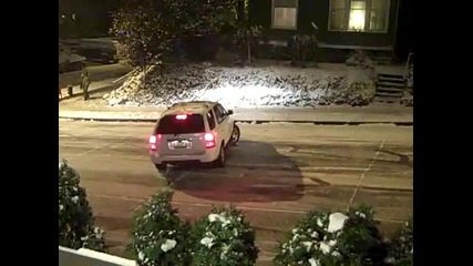 Sliding Cars in Seattle Snow