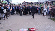 Belarus: Foreign officials pay respects at memorial for man who died at Minsk protest