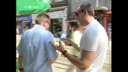 Репортер целува момиче в ефир..!