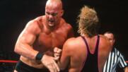 "British Bulldog & Owen Hart vs. Shawn Michaels & ""Stone Cold"" Steve Austin – World Tag Team Titles Match: Raw, May"
