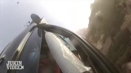 Шофьор с Bmw M3 се хвърля от скала !