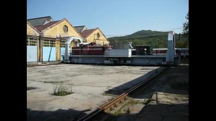 Преместване на дизелов локомотив