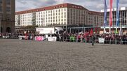 Germany: Counter-protest overshadows Pegida's 7th anniv rally in Dresden